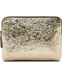 3.1 Phillip Lim Silver Foil Minute Cosmetic Pouch - Lyst