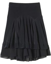 Rebecca Taylor Black Pleat Skirt - Lyst