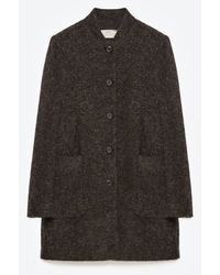Zara | Grey Wool Coat | Lyst