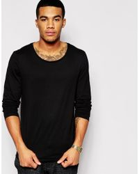 Asos Long Sleeve T-Shirt With Scoop Neck - Lyst