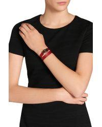 BOSS - Plain Bespoke Bracelet In Leather - Lyst