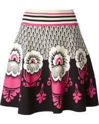 Valentino Intarsia Knit Skirt - Lyst