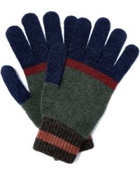 Howlin' By Morrison - Green Waikiki Block Panel Wool Gloves - Lyst