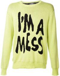 Jeremy Scott Im A Mess Sweater - Lyst