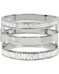 Kenneth Cole Sparkled Baguette Cut-out Bracelet - Metallic