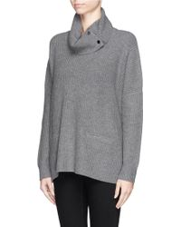 Vince Wool-Yak Rib Turtleneck Sweater - Lyst