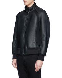 Neil Barrett Neoprene Bonded Leather Jacket - Lyst