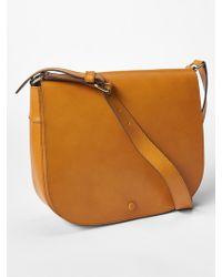 Gap Leather Saddle Bag - Brown