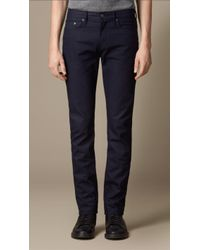 Burberry Slim Fit Saturated Selvedge Jeans - Lyst