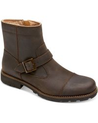 Rockport Street Escape Cap Toe Buckle Boots - Lyst
