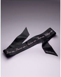 Agent Provocateur - Marquee Eye Mask Black/pink - Lyst