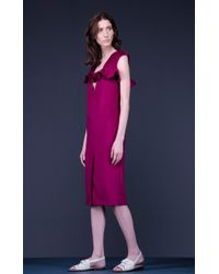 Marchi Cashmere Dress With Basque - Lyst