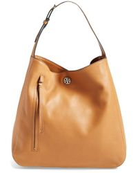 Tory Burch 'Brody' Leather Hobo Bag brown - Lyst