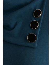 Monteau Inc Coach Tour Dress in Sea Blue