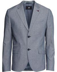 H&M Blue Marled Jacket - Lyst