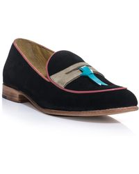 Esquivel Suede Penny Loafers - Lyst
