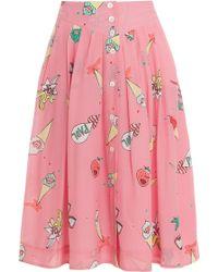 Paul & Joe Printed Skirt - Lyst