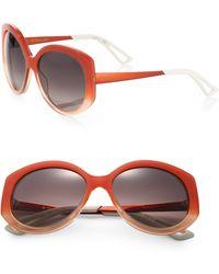 Dior Extase 58mm Round Sunglasses - Lyst