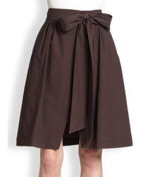 MSGM Bow Skirt - Lyst