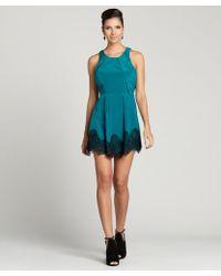 Aryn K. Peacock Jacquard Sleeveless Dress - Lyst
