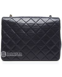 Chanel Preowned Navy Lambskin Vintage Mini Flap Bag - Lyst