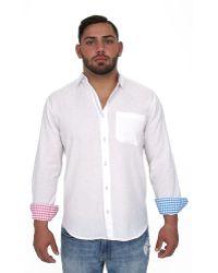 Giorgio Bellini - Capri Linen Blend Button Front Shirt - Lyst
