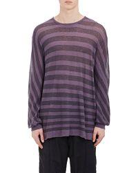 Haider Ackermann Stripe Elongated Sweater - Lyst