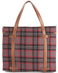 Nila Anthony - Camp Director Tote in Plaid - Lyst