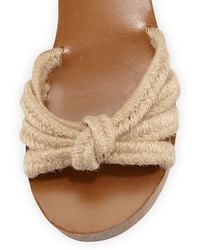 Isabel Marant Zia Knotted Rope Sandal - Brown