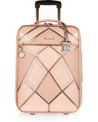River Island Pink Patchwork Suitcase