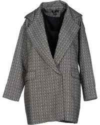 Cutie Gray Full-Length Jacket - Lyst