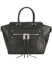 MILLY - Women'S Riley Leather Wing Zip Tote Bag - Lyst