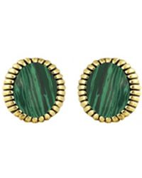 House Of Harlow Sunburst Stone Stud Earrings Green - Lyst