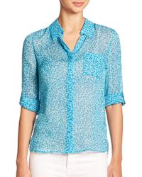 Diane von Furstenberg Lorelei Two Silk Shirt - Lyst