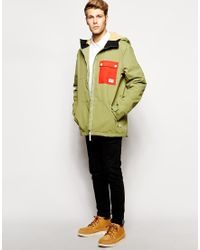 Clwr Jacket With Contrast Pocket - Green