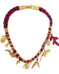 Virzi+de Luca - Rio Gold-Plated And Cotton Charm Necklace - Lyst