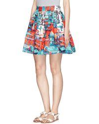 Alice + Olivia Stora' Town Print Pouf Skirt - Lyst