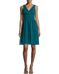 Donna Morgan Sleeveless Chiffon Cocktail Dress - Lyst