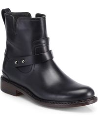 Rag & Bone Ashford Leather Moto Boots - Black