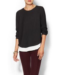 Twelfth Street by Cynthia Vincent Double Layer Blouse - Lyst