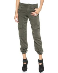 DWP - Kat Slouchy Cargo Trousers - Hunter Green - Lyst