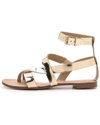 Splendid Crete Flat Sandals - Gold - Lyst