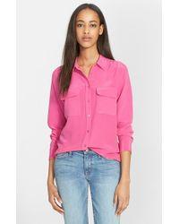 Equipment Women'S 'Slim Signature' Silk Shirt - Lyst