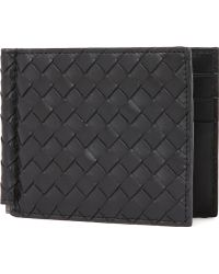 Bottega Veneta Intrecciato Leather Moneyclip - Lyst
