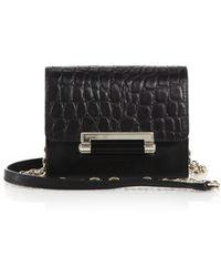 Diane von Furstenberg 440 Micro Mini Crocodile-Embossed Shoulder Bag - Lyst