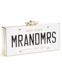 Kate Spade 'Mr. And Mrs. - Happily Ever After' License Plate Box Clutch - Lyst
