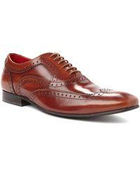 Base London Brogue Shoes In Hi-Shine brown - Lyst