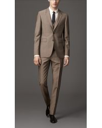 Burberry Modern Fit Wool Mohair Three Piece Suit - Lyst