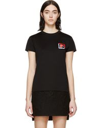 Paco Rabanne Black Embroidered Logo T_Shirt - Lyst