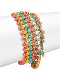 Panacea - Beaded Fringe Bracelet - Lyst